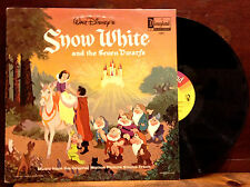 "WALT DISNEY'S __Snow White and The Seven Dwarfs__ 12"" LP ORIG 1963 Disney VG+"