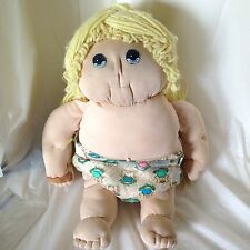 Handmade Soft Sculpture Doll 1981 Blonde Blue Eyes in Cabbage Patch Kids Diaper