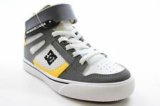 New DC SHOES Boys Spartan High EV High Top Sneaker Shoes White/Yellow Size 1 BW1