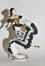 Muller Volkstedt Germany Antique Dresden Spanish Dancer Flamenco Lady Figurine