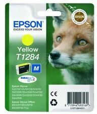 Original Epson T1284 Yellow Ink Cartridge for Stylus SX235w SX425w SX130 SX435w