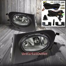 Clear Lens Housing Driving/Bumper Fog Light+Wiring For Honda 02-05 Civic Si EP3