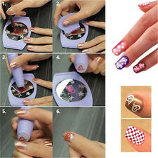 DIY Nail Art Stamping Decals Nail Design Kit Set Tools Manicure Machine Template