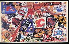 WORSLEY LUMLEY STANLEY ABEL BUCYK +9 Other HOFers Autographed Collage JSA