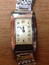 Montre Vintage Eterna 1930's Era Tonneau Men Rare Watch Art Deco 22x32mm