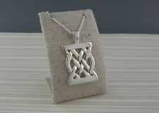 Sterling Silver Kells Celtic Knot Pendant Made in Ireland by Barry Doyle Design
