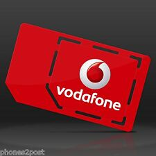VODAFONE PAYG PAY AS YOU GO TRIPLE SIM CARD FOR IPHONE 4, 5, 6, 6s, 6 PLUS