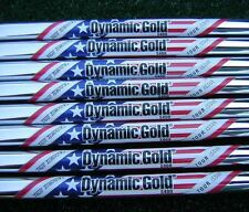 "3-PW NEW 2012 RYDER CUP TOUR ISSUE DYNAMIC GOLD S400 .355"" TAPER TIP IRON SHAFTS"