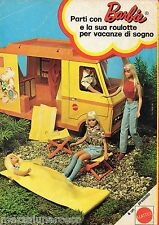Pubblicità Advertising 1973 MATTEL Barbie ROULOTTE