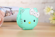 green Flip T99 Cute Hello Kitty Style Mobile Cell Phone For Kids Girls Students