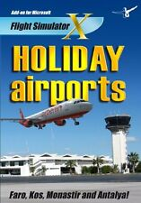 HOLIDAY AIRPORTS 1 (PC-DVD) BRAND NEW SEALED ADD ON FOR FLIGHT SIM X