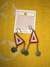 New African Maasai Earrings Masai Massai Fair Trade tribal boho ethnic jemd101
