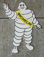 "SUPERB LARGE CAST IRON WAVING MICHELIN MAN  ADVERTISING SIGN OR PLAQUE 14"" TALL"
