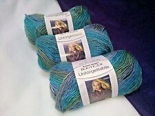 NEW Red Heart Boutique Unforgettable Yarn 3- 3.5 oz. Skeins Same Dye Lot TIDAL