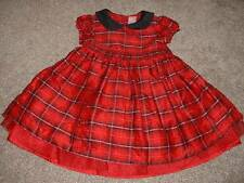 Gymboree Girls Merry Occasions Red Plaid Silk Christmas Dress Size 3T 3 Toddler