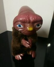 E.T. Extra Terrestrial PLUSH Fur Plastic Figure CLIP-ON Toy Alien Huggies 3.5""