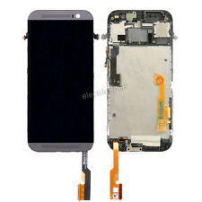 LCD display Touch Screen Digitizer Assembly for HTC ONE M8 With Frame Grey