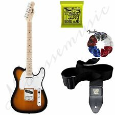 New Fender Squier Affinity Electric Guitar Telecaster Sunburst