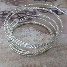 Beadsmith 18 gauge Twisted Square Wire Silver Plated