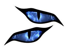 Pair Of Evil Eyes Lightning Strike Storm car motorbike helmet sticker 70x30mm ea