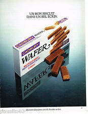 PUBLICITE ADVERTISING 065  1978  CADBURY  WAFER   biscuits au chocolat