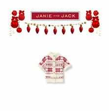 Janie and Jack baby Girl Holiday Christmas Special Sweater Poncho NWT Size 6-12m