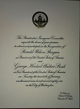 Nice Gold Embossed Invitation To Reagan's 1981  Inauguration