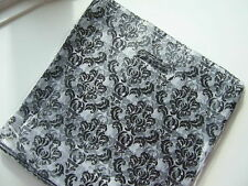 "50 BLACK  DAMASK PLASTIC CARRIER BAGS 12 "" X 12"" X 4"""