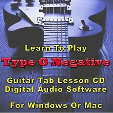 TYPE O NEGATIVE Guitar Tab Lesson CD Software - 24 Songs