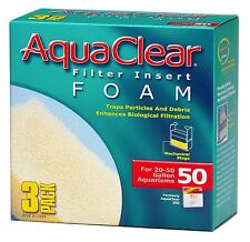 (3 PACK) AQUACLEAR 50 FOAM INSERT FILTER MEDIA. A-1394