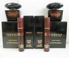 Versace Crystal Noir Mini EDT .17 oz x2 Pcs & .06 oz Spray Samples x2 Pcs