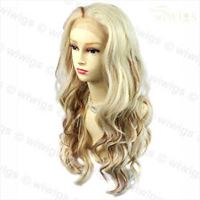 Sexy French Lace Front wig Wavy Blonde & Red Long Heat Resistant Ladies Wigs UK