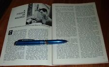 1959 TV ARTICLE~PLAYHOUSE 90 WRITER AARON EDWARD HOTCHNER~ERNEST HEMINGWAY STORY