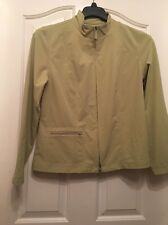 ZENERGY By CHICOS A39 Solid Lime Green Basic Jacket Size 1