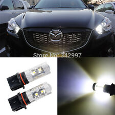 2x White CREE 50W P13W LED Daytime Running Fog Lights Bulbs Mazda CX-5 2013-2014