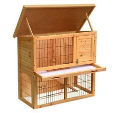 "36"" Waterproof Wood Wooden Rabbit Hutch Small Animal House Pet Cage Chicken Coop"