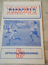 7.10.73 Wakefield Trinity v Leeds rugby league programme