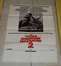 original THE TEXAS CHAINSAW MASSACRE PART 2 SOUNDTRACK advertising poster