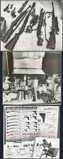 Lot of 3 Vintage Photos Unusual Survival Rifle Guns Knives & Canned Food 718469