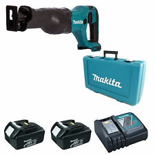 Makita DJR186 scie alternative BL1830 2 batteries DC18RC chargeur et étui