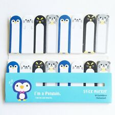 120 Sheets Cute Animal Penguin Mini Sticky Notes Page Marker Memo Tab Sticker UK