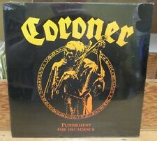 CORONER PUNISHMENT FOR DECADENCE LP SS STILL SEALED 1988 MAZE THRASH SPEED