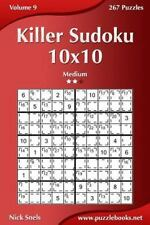 Killer Sudoku: 10x10 - Medium Vol. 9 by Nick Snels (2014, Paperback)