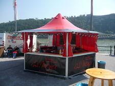 Partyzelt Verkaufspavillon Marktstand 16,3m² / schwarz-rot