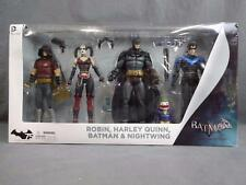Batman Arkham City 4 Pack Action Figure Robin Harley Quinn Batman Nightwing Set