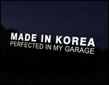 Made in Korea Car Decal Sticker JDM Vehicle Bike Bumper Graphic Funny