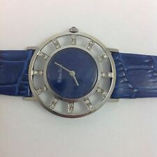LUCIEN PICCARD BLUE LAPIS 14K WHITE GOLD AND DIAMONDS WATCH