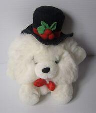 "Russ neige ronde-ball teddy bear mr christmas peluche jouet doux 5"", 8"" inc chapeau e"