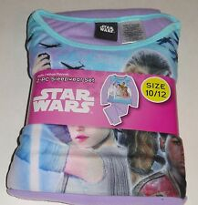 STAR WARS GIRLS FLANNEL PAJAMAS SET SIZE 7 8 REY