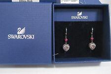 Swarovski Starlet Pierced Earring Heart Love Purple Crystal MIB - 1160550